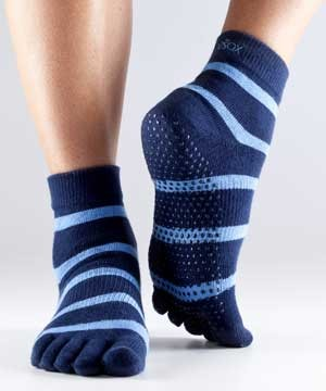 Full-Toesox ANKLE XS / Blue/Blue striped