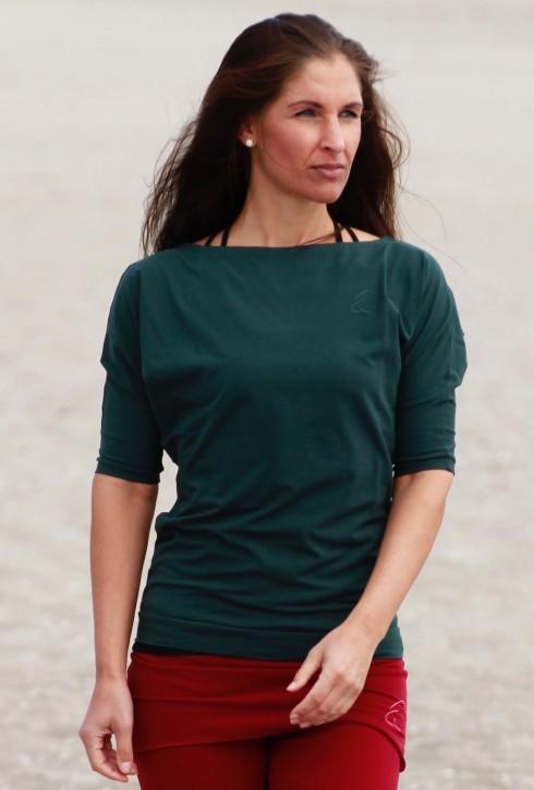 """Esparto Half-Sleeve Shirt """"Sadaa"""" L / Thyme / Dark Green"""