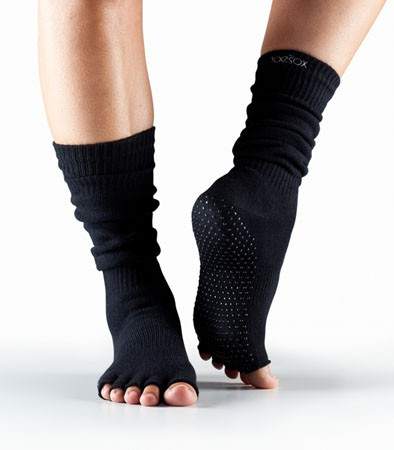 Half Toesox Scrunch Knee High Black / M