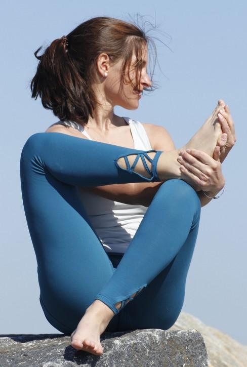 "ESPARTO Yoga Leggings ""Mala"" second rate quality XXL / Teal"