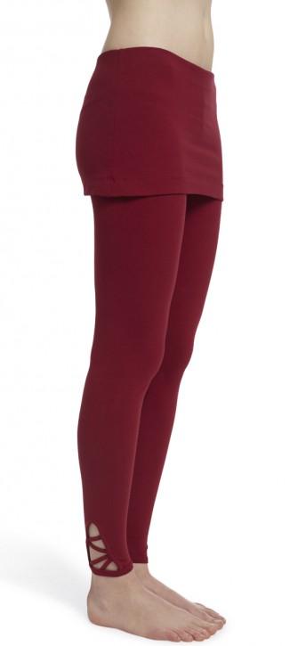 "ESPARTO Yoga Leggings ""Mala"" S / Garnet Red"