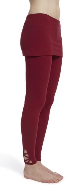"ESPARTO Yoga Leggings ""Mala"" second rate quality L / Garnet Red"
