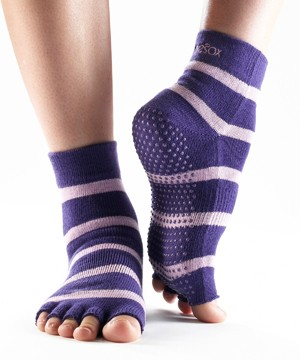 Half-Toesox ANKLE L / Purple (Stripe)