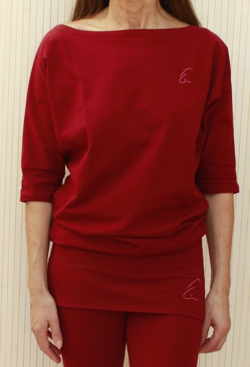"Esparto Half-Sleeve Shirt ""Sadaa"" XL / Garnet Red"