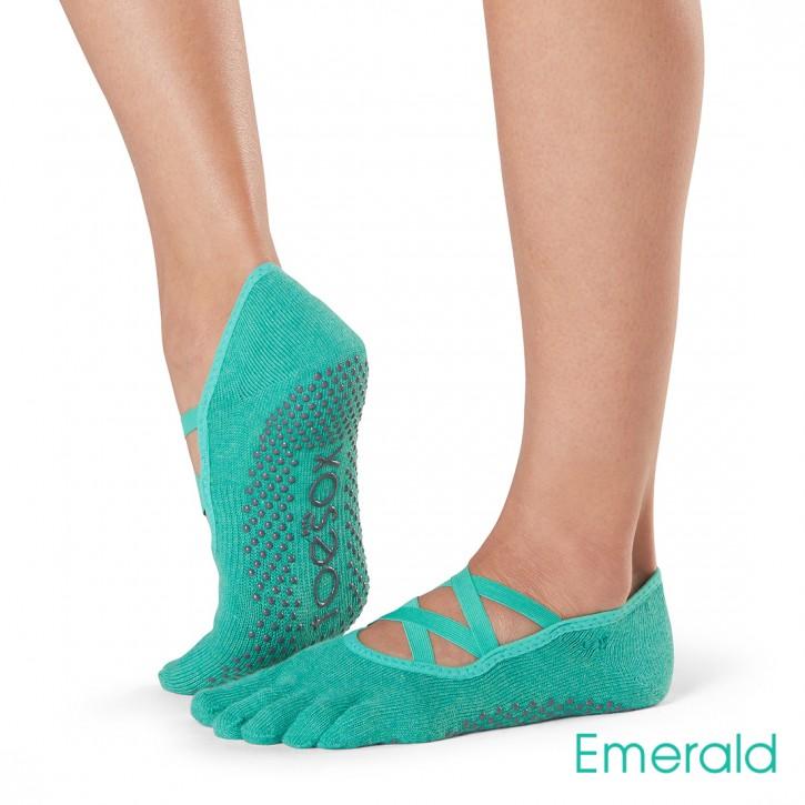 Full-Toesox ELLE M / Smaragdgrün
