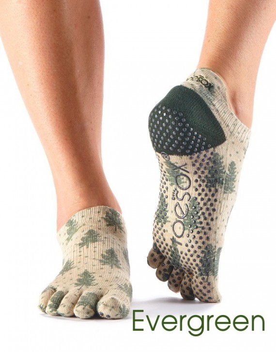 Full-Toesox LOWRISE M / Evergreen (Sand with Dark Green)