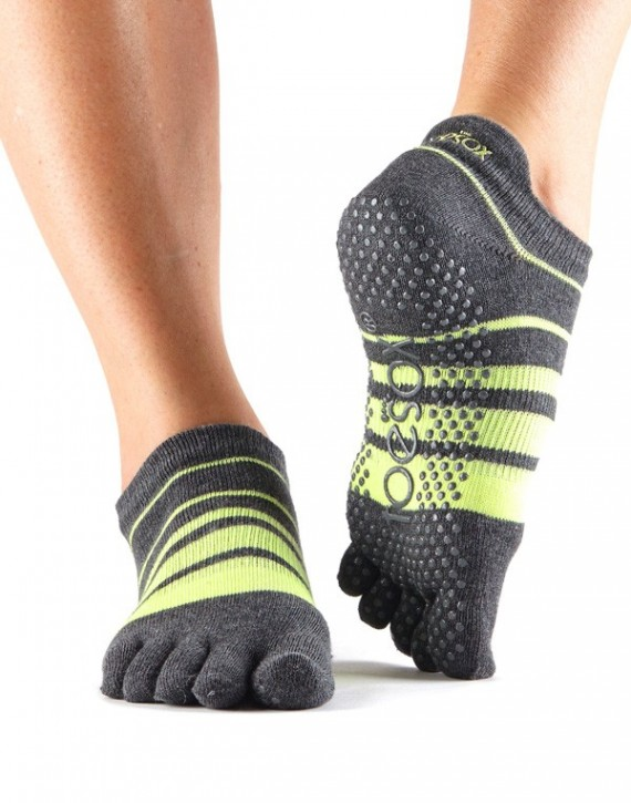 Full-Toesox LOWRISE S / Varsity (Anthracite/Neon)