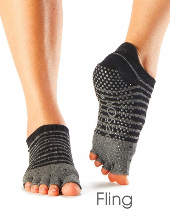 Half-Toesox LOWRISE S / Fling / Anthracite-Black