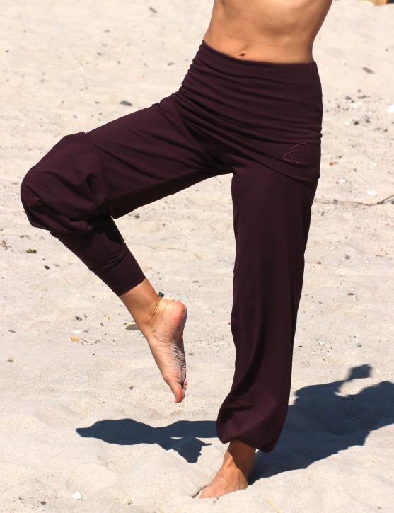 """ESPARTO Yoga- und Pilateshose """"Sooraj"""" L / Aubergine"""