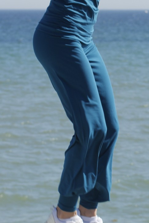 "ESPARTO Yoga Pants ""Sooraj"" - The Original M / Teal"