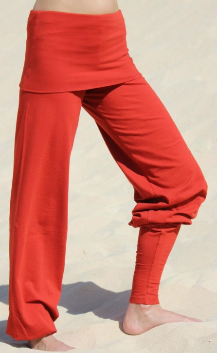 "ESPARTO Yoga Pants ""Sooraj"" XS / Terracotta / Sunset Red"