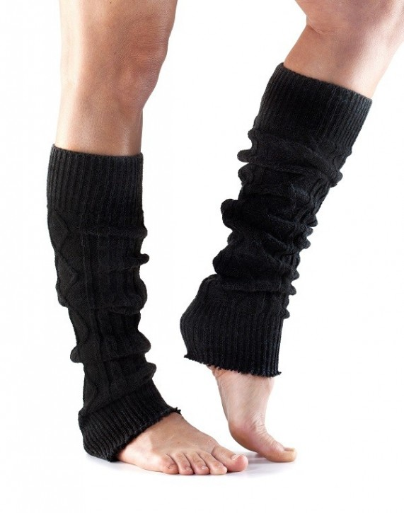 Toesox Leg Warmer Knee High Schwarz / universal