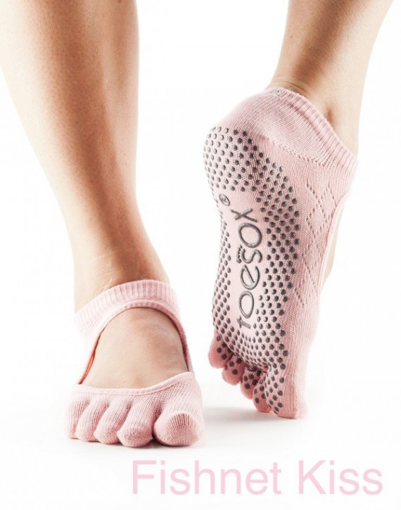 Full-Toesox BELLA with Grip M / Fishnet Kiss (old rose)