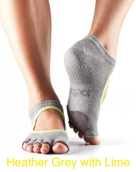Half-Toesox-PLIE M / Heather with Lime