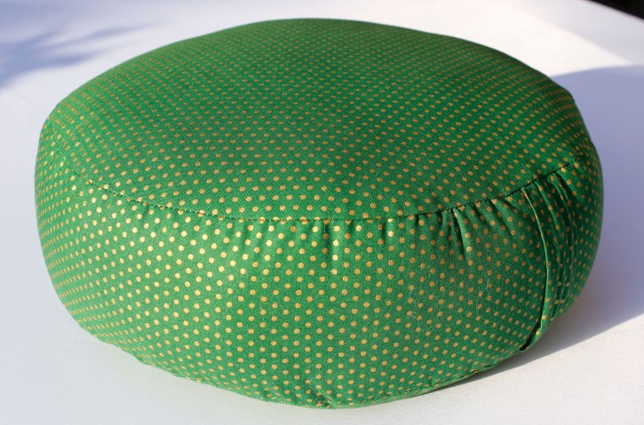 ESPARTO Yoga Meditation Cushion with Alpaca filling universal / Green with golden dots