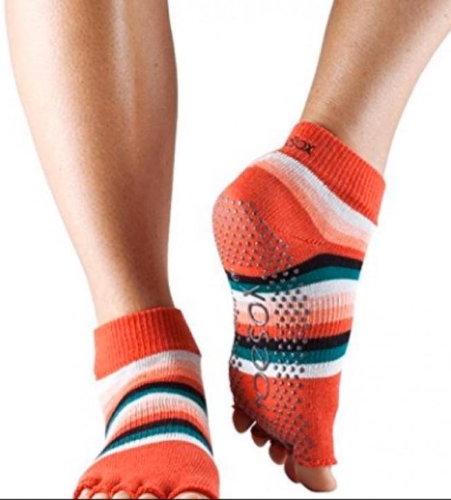 Half-Toesox ANKLE S / Fiesta / Orange Stripe