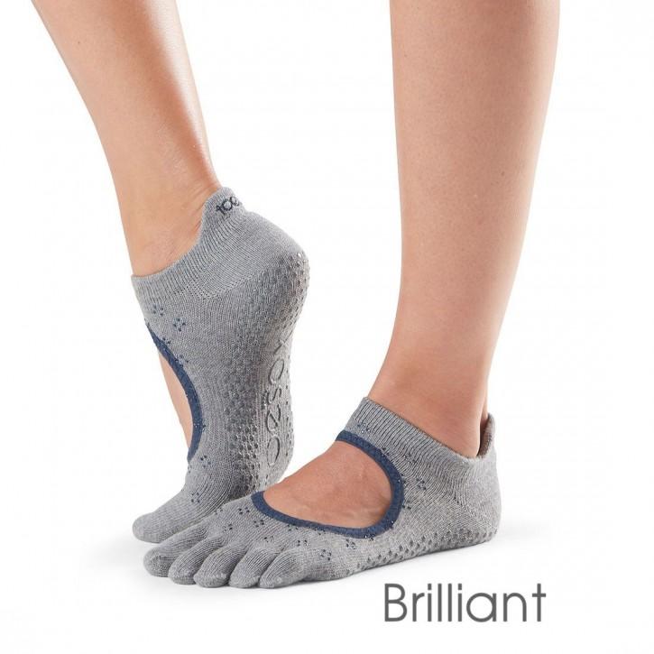 Full-Toesox BELLARINA M / Brilliant (grau mit blauem Strass)