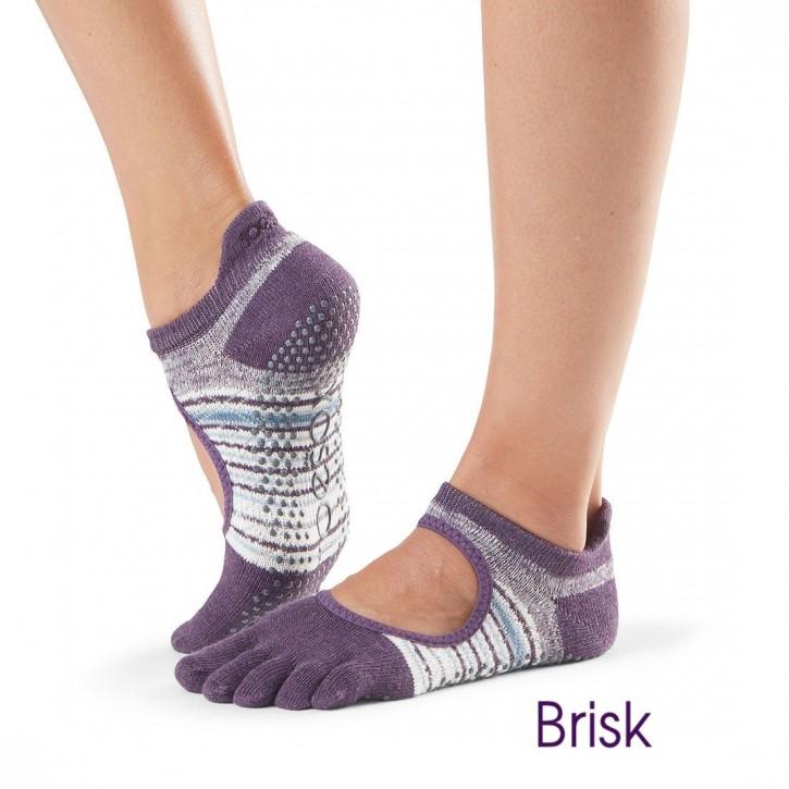 Full-Toesox BELLARINA M / Brisk (lila-weiß gestreift)