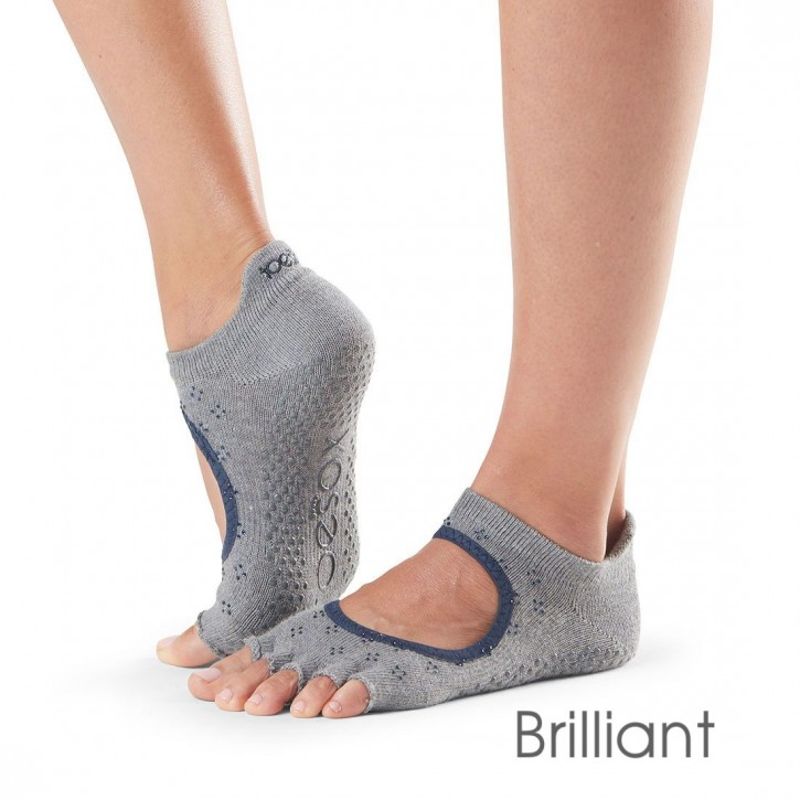 Half-Toesox BELLARINA S / Brilliant (grau mit blauem Strass)