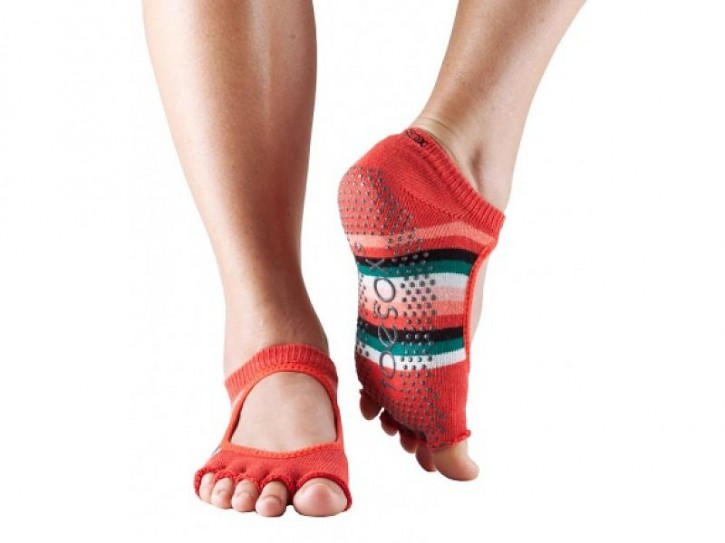 Half-Toesox BELLA S / Fiesta / Orange Stripe