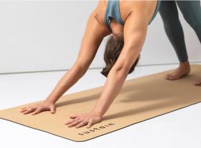 Kork-Yogamatte Sustain mit Gummiunterseite auf Kautschuk-Basis